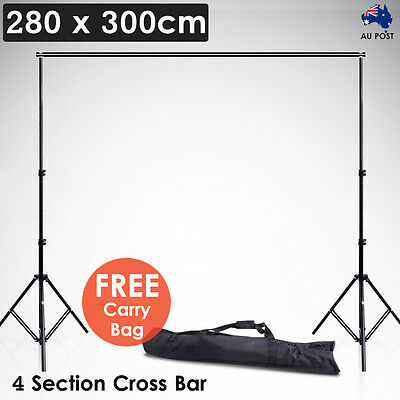 2.8x3m Photography Studio Background Support Backdrop Stand Kit for Photo Light
