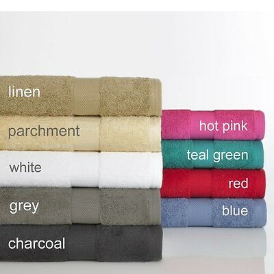 Set of 2 Egyptian Cotton 610 gsm super absorbent towels, sheets, mats, hand,face