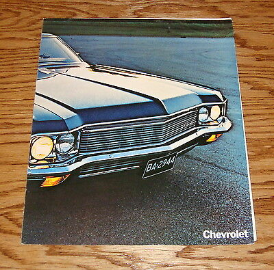 Original 1970 Chevrolet Full Size Facts Features Sales Sheet Brochure 70 Chevy