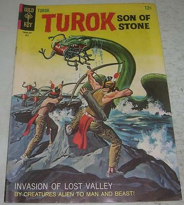 TUROK SON OF STONE #58 (Gold Key 1967) FLYING SAUCER story (FN-) Painted Cover