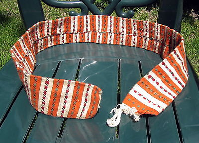 Custom Made Antique Native Bulgarian Folk Art Hand Braided Striped Belt