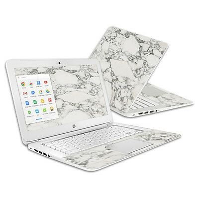 Skin Decal Wrap for HP Chromebook 14 (2014) cover sticker White Marble