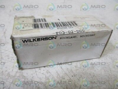"""Wilkerson F03-02-D00 1/4"""" Filter *new In A Box*"""