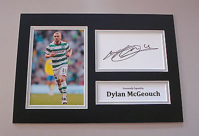 Dylan McGeouch Signed A4 Photo Autograph Display Glasgow Celtic Memorabilia COA