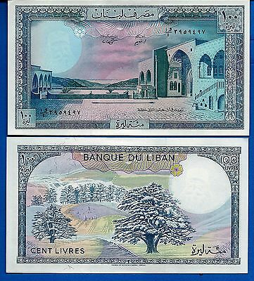 Lebanon P-66 100 Livres Year 1988  Uncirculated FREE SHIPPING