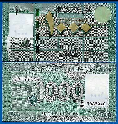 Lebanon P-90 1000 Livres Year 2011 Uncirculated FREE SHIPPING