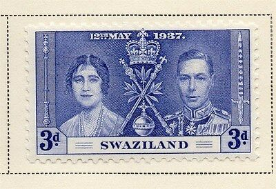 Swaziland 1937 Early Issue Fine Mint Hinged 3d. 144890