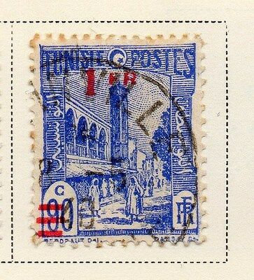 Tunisia 1940-41 Early Issue Fine Used 1F. Surcharged 144825