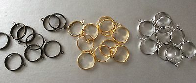 Choose Colour Adjustable Ring Blanks With Loop, Ring Base, Jewellery Making