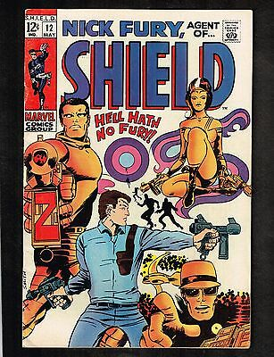 Nick Fury, Agent of S.H.I.E.L.D. #12 ~ Barry Smith Cover ~ 1969 (7.0) WH