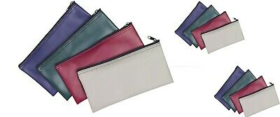 1 Dozen Zippered Bank Deposit Carry Pouch Bag Safe Money Organizer Wholesale Lot