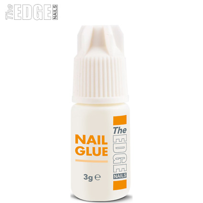 The Edge Nails Adhesive Glue 3g Super Strong For False Nail Tips & Extensions x1