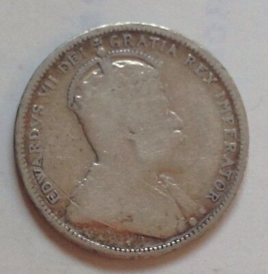 1906 Canada Silver 25 Cent Coin Canadian Twenty-Five Cents Quarter