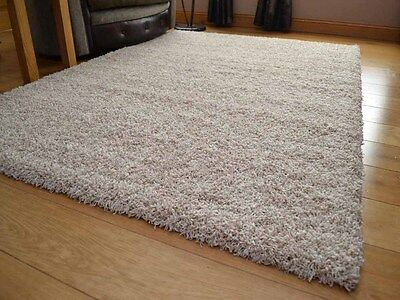 Two Tone Beige Cream Mix Small Medium Large Soft Thick Plain Shaggy Rug Runners