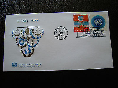 NATIONS-UNIES (new-york) - enveloppe 1er jour 20/9/1965 (cy64) united nations