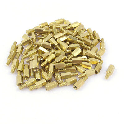 100 Pcs M3 3mm Male Female Brass Hex Stand-off PCB Spacer Pillar 8mm