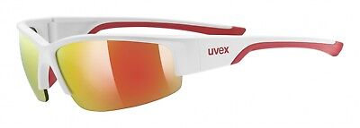 Uvex Sportstyle 215 Sportbrille - white mat red