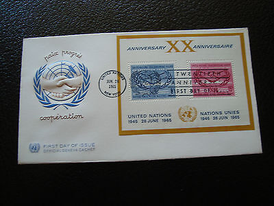 NATIONS-UNIES (new-york) - enveloppe 1er jour 26/6/1965 (cy64) united nations