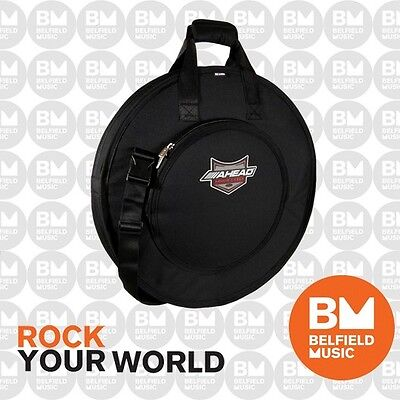 "Ahead Deluxe Cymbal Bag Carry Case AA-6021 - Fits up to 24"" Size Cymbals - BNIB"