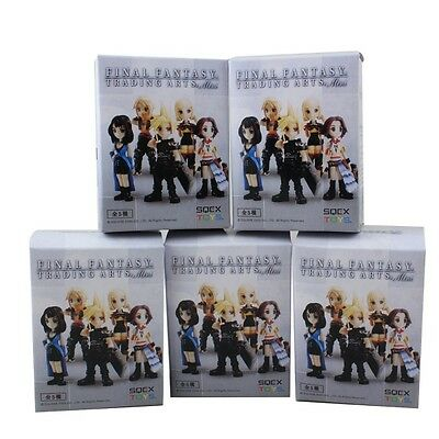 5pcs Final Fantasy Trading Arts Mini Cloud Rinoa Yuna Vaan Penelo PVC Figure WB
