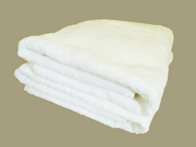 4xLUXURY EXTRA LARGE BATH SHEET 100% COTTON 5 STAR HOTEL TOWELS WHITE 90x186CM