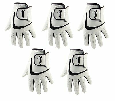5 x  MENS 100% CABRETTA LEATHER GOLF GLOVES