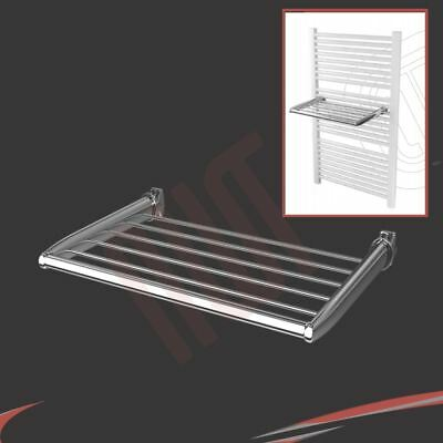 350mm(w) Chrome Towel Holder - Fixes directly to heated towel rails