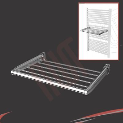 360mm(w) Chrome Towel Holder - Fixes directly to heated towel rails