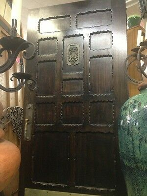 Rare Spanish Revival Front Door With Original Hardware  79 X30""