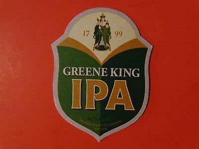 Beer Pub Coaster <*> Green King IPA <*> Bury St Edmunds, Suffolk Breweriana 1799