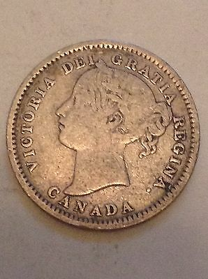 1899 Canada Silver Ten Cents 10 Cent Coin Canadian