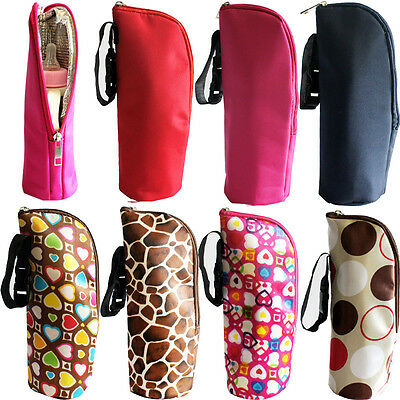 2015 Baby Thermal Feeding Insulation Bottle Warmers Mummy Tote Bag Hang Stroller