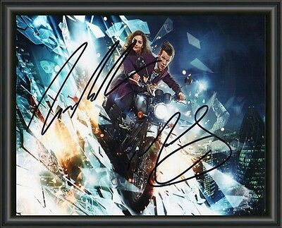 Matt Smith Jenna L. Coleman Dr Who Signed Autographed A4 Photo Poster  Free Post