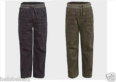 Boy's Ex Store Cargo Trousers/pants 4 5 6 7 8 9 10 11 12 13Yrs