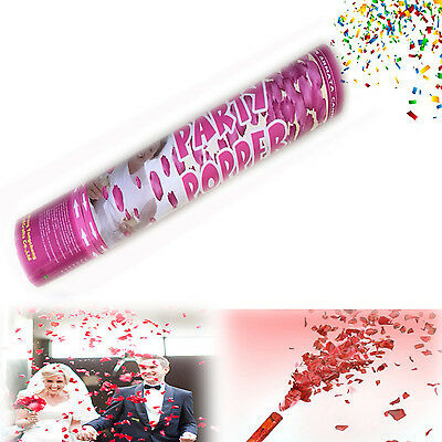 Air Cannon popper red rose heart petal wedding birthday party whistle confetti