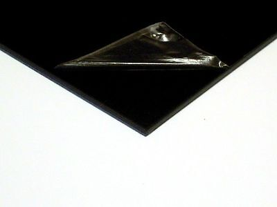1 x A4 Black ABS Plastic Sheets (297mmx210mmx1.5mm) VAT Invoice Supplied