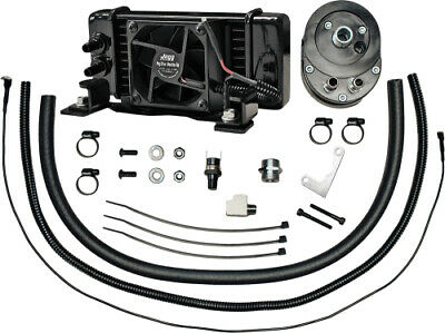 Jagg Oil Coolers Low-Mount 10 Row Fan-Assisted Oil Cooler Black 751-FP2300