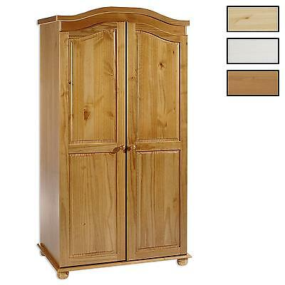 armoire penderie dressing rangement chambre vintage 2 portes bois pin massif eur 243 00. Black Bedroom Furniture Sets. Home Design Ideas