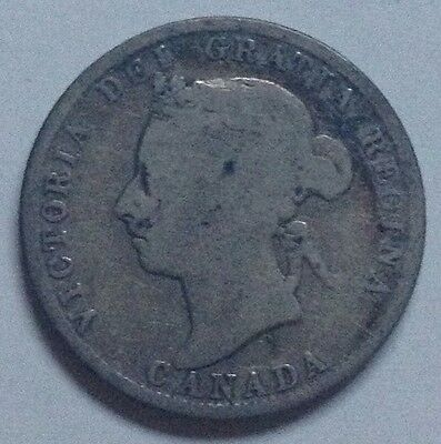 1888 Canada Silver Twenty-Five Cents 25 Cent Coin Canadian