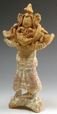 Highly Unusual Song Dynasty Figure with Snake