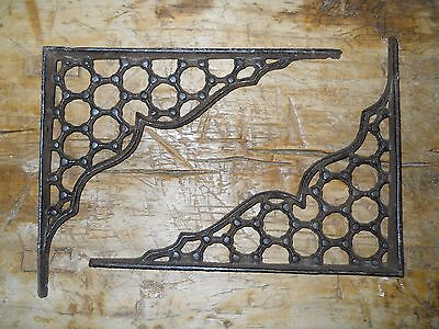 2 Cast Iron Antique Style LARGE RING Brackets, Garden Braces Shelf Bracket