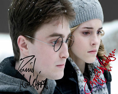 EMMA WATSON DANIEL RADCLIFFE AUTOGRAPHED SIGNED 8x10 PHOTO RP