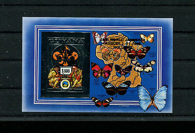 Guyana 1995 Scouts Chess Unlisted Gold Foil Sheets Michel BL 236b-37b IMPERF var