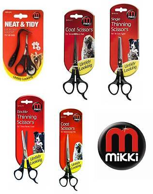 Mikki dog cat grooming scissors thinning coat puppy ear & face pet trimmers