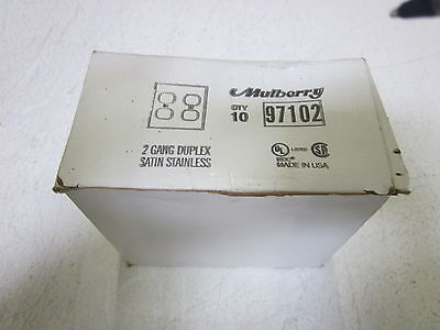 Lot Of 6 Mulberry 97102 2G Duplex Stainless Steel *new In Box*