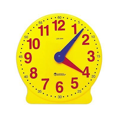 Geared Teaching Aid Time Learning Educational Clock Learn To Tell The Time