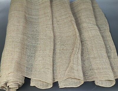 Vintage Tribal chinese miao people' homespun hand-woven fabric textile roll 5.1M