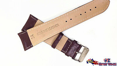 2 Sets 24mm Unisex Leather Watch Band Strap