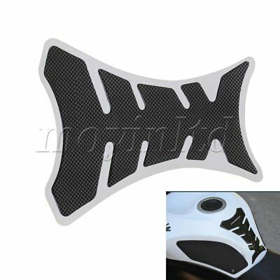 2 x Waterproof Black Fish Bone Tank Pad Protector Sticker For Motorcycle Scooter