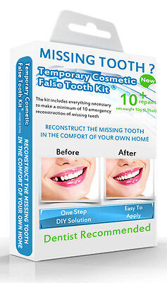 False Teeth Temporary Missing Tooth Replacement Diy Kit Fill Gap